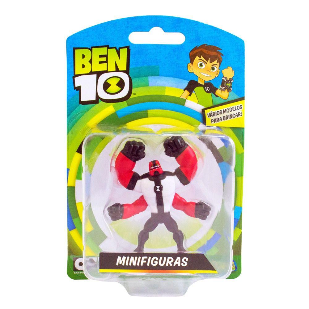 Mini Figuras Ben 10 - Boneco Quatro Braços - Original Sunny