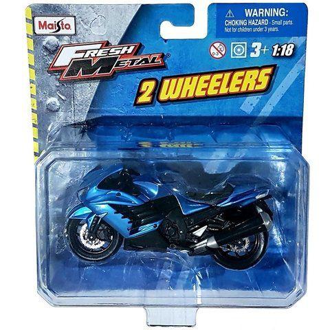 Miniatura Kawasaki Ninja ZX14R  - 2 Wheelers - Fresh Metal - Maisto 1:18