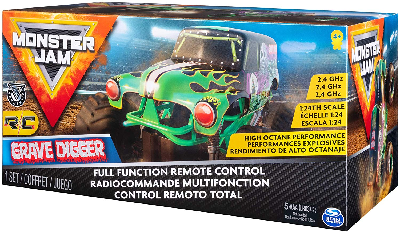 Monster Jam  - Carro Controle Remoto - Grave Digger - Sunny