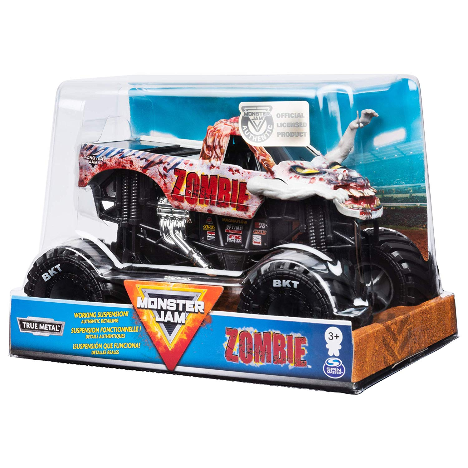Monster Jam Diecast - Zombie Truck - Escala 1:24 - Original