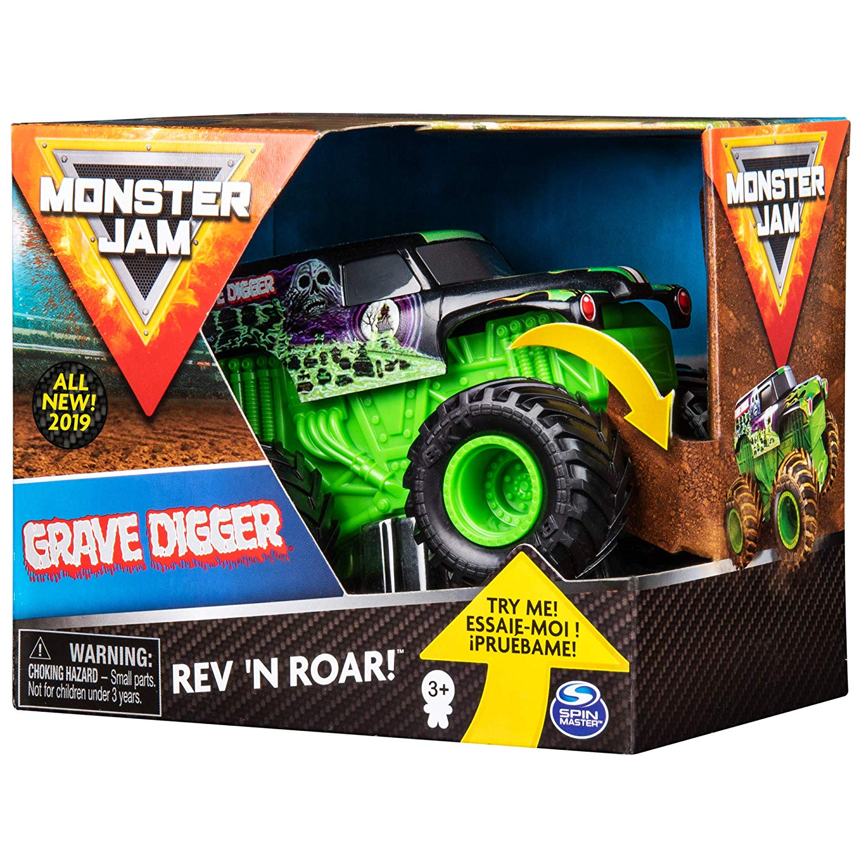 Monster Jam - Grave Digger com Som - Escala 1:43 - Original