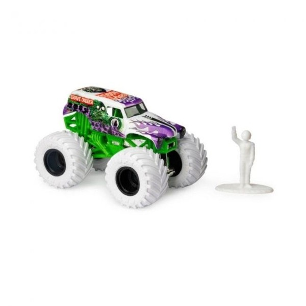 Monster Jam Grave Digger Branca Escala 1:64 - Original