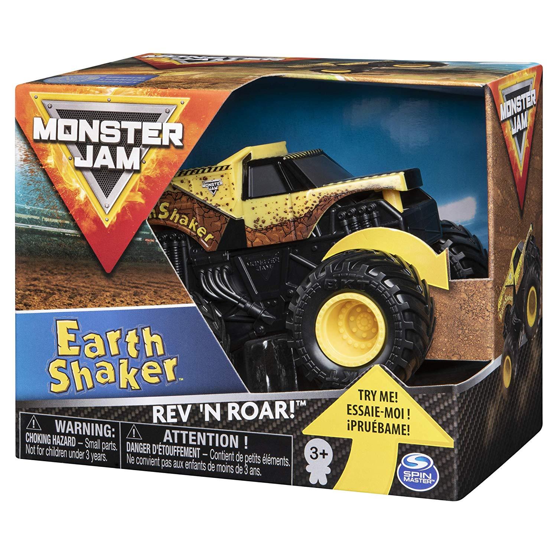 Monster Jam Rev´n Roar Carro com Som - Earth Shaker - Sunny