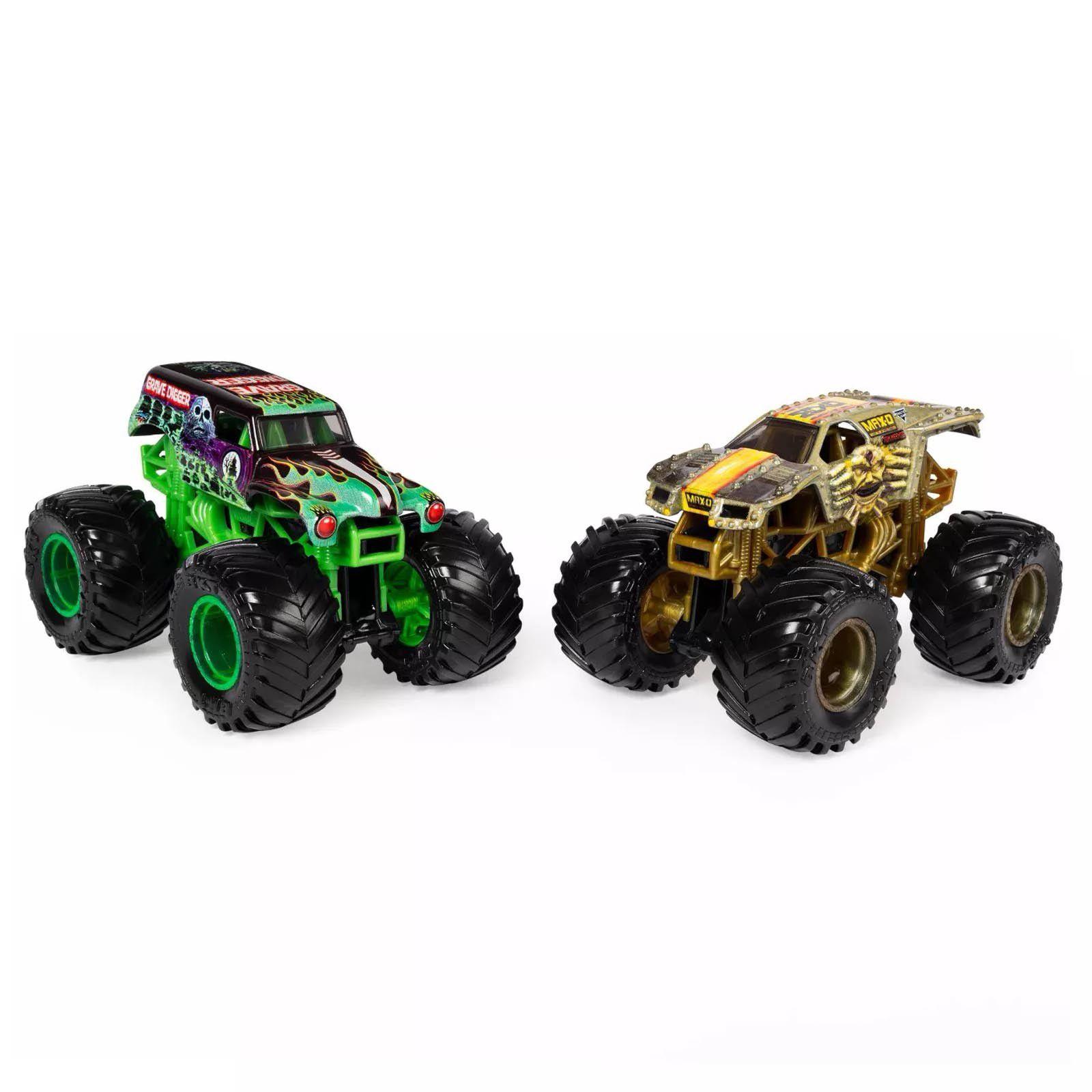 Monster Jam Truck  2 Carros - Grave Digger Vs Max-D 1:64
