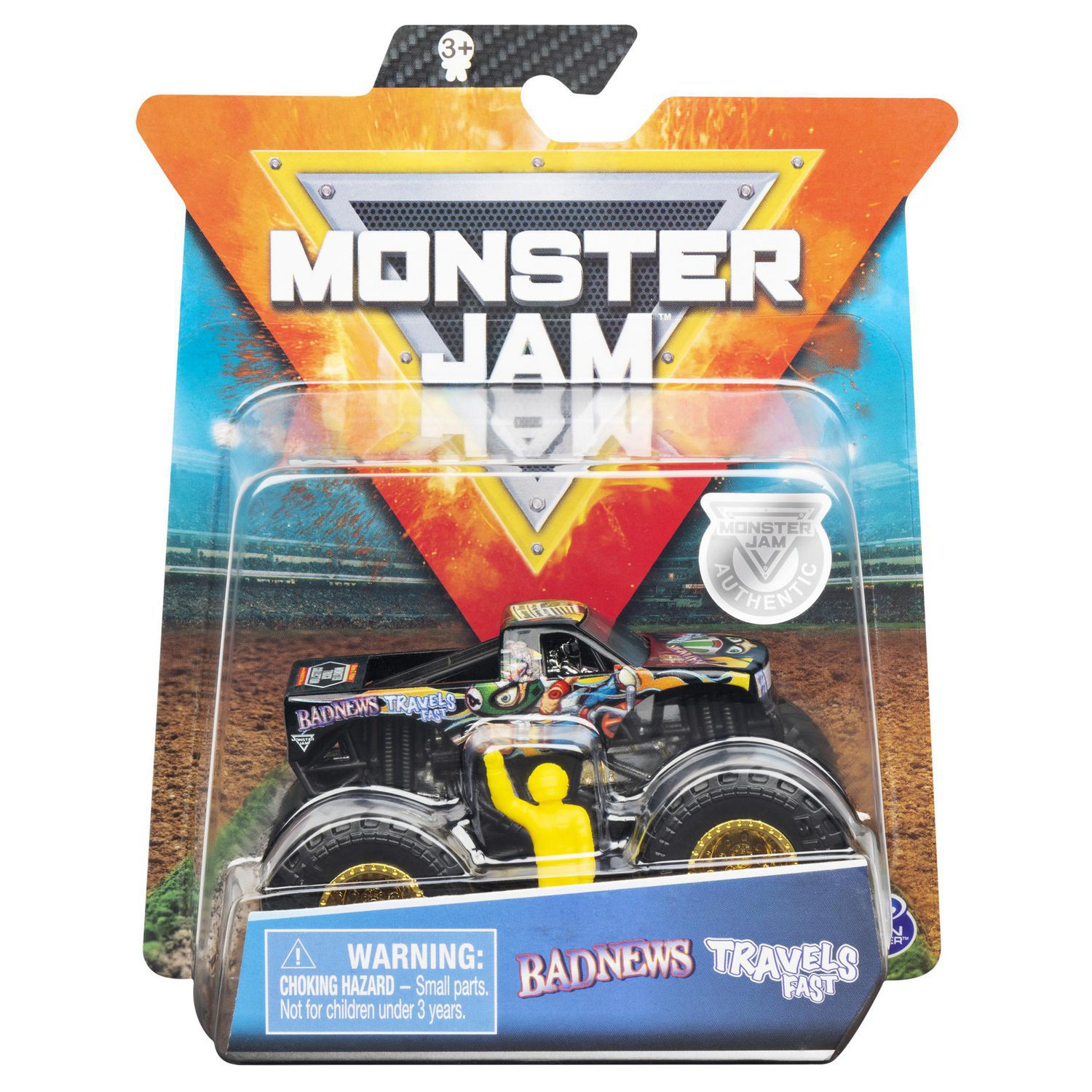 Monster Jam Truck - Bad News Travel Fast - 1:64 - Original