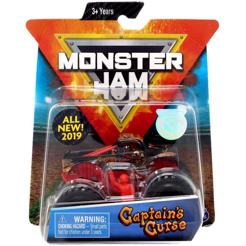 Monster Jam Truck - Captain Curse - Escala 1:64 - Original