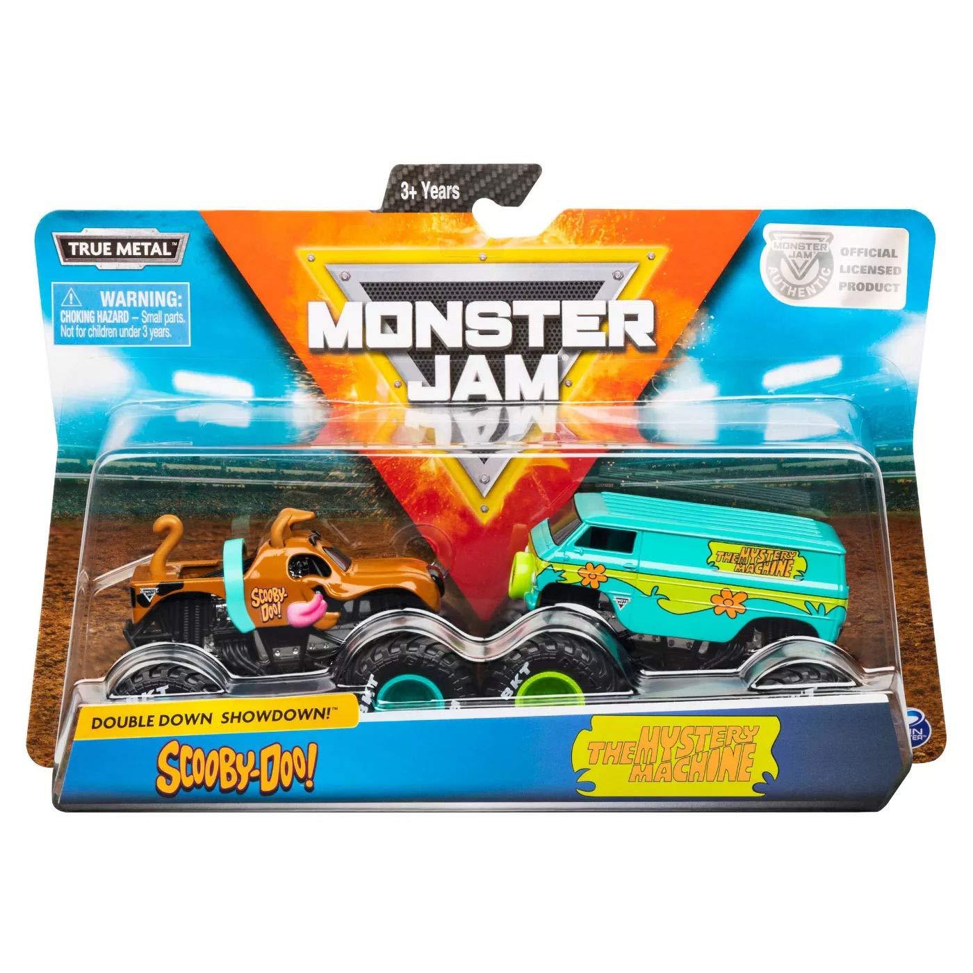Monster Jam Truck  com 2 Carros - Set Scooby Doo Escal 1:64
