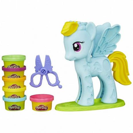 Play-Doh My Little Pony Massinha - Ponei Penteado - Hasbro Original B0011