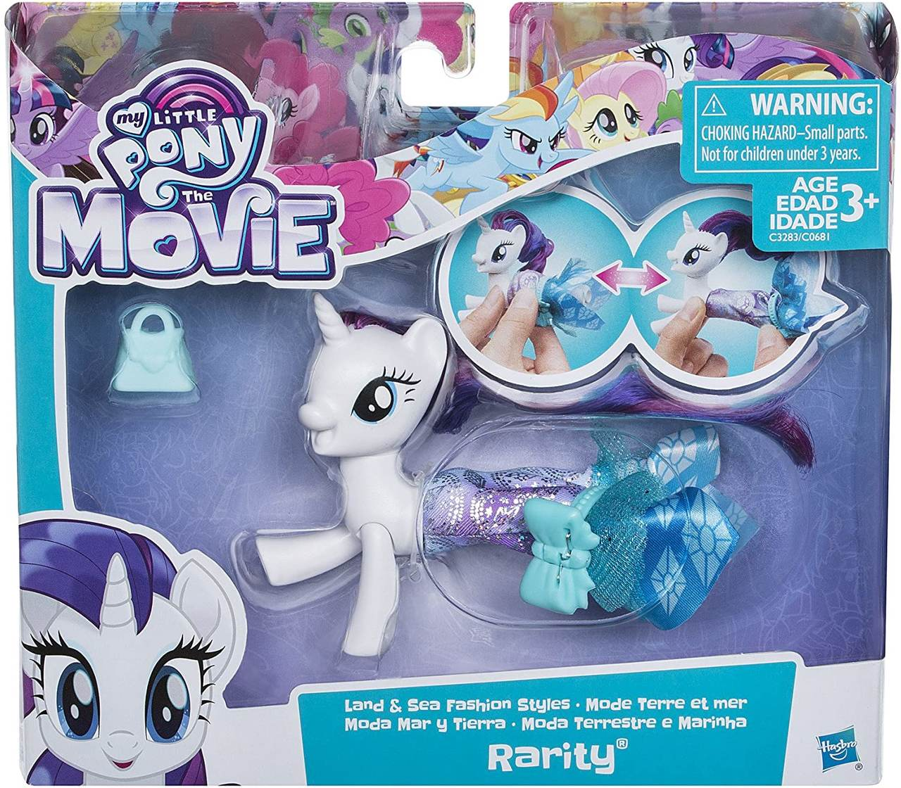 My Little Pony - Rarity - Moda Terrestre e Marinha - Hasbro