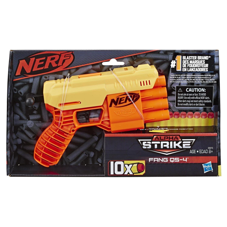 Nerf Lançador de Dardos - Alpha Strike Fang QS-4 - 10 Dardos