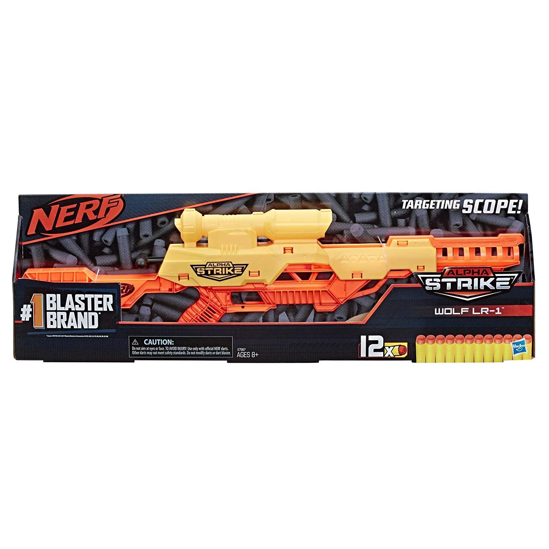 Nerf Lançador de Dardos - Alpha Strike Wolf LR-1 - 12 Dardos
