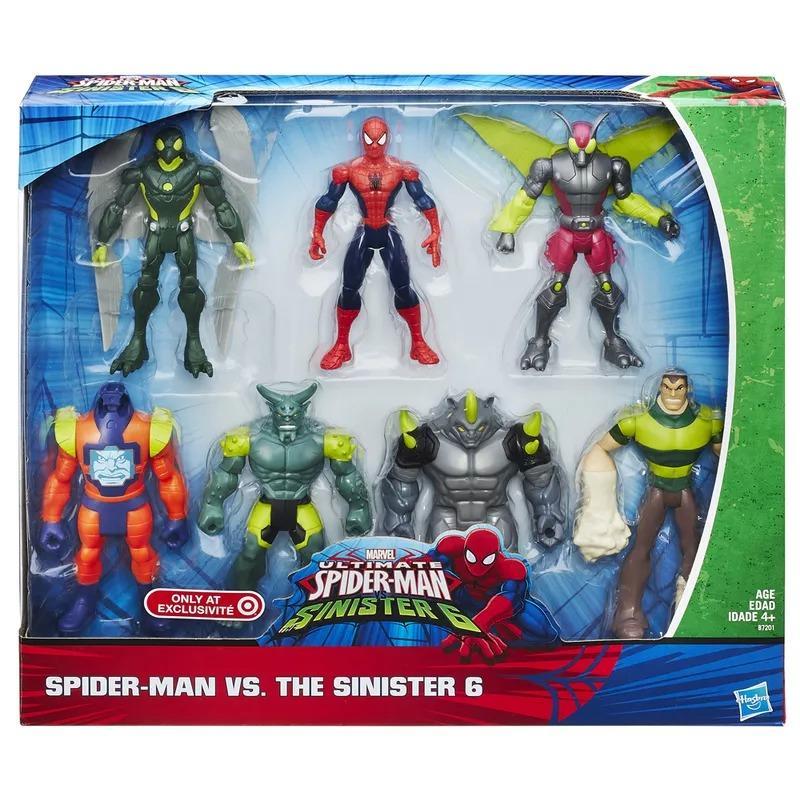Pack 7 Figuras Marvel Spider Man vs Sinister 6 - Hasbro