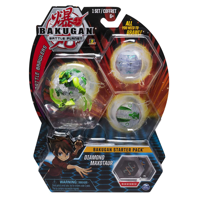 Pack Esfera Bakugan Starter - Diamond Maxotaur - Original