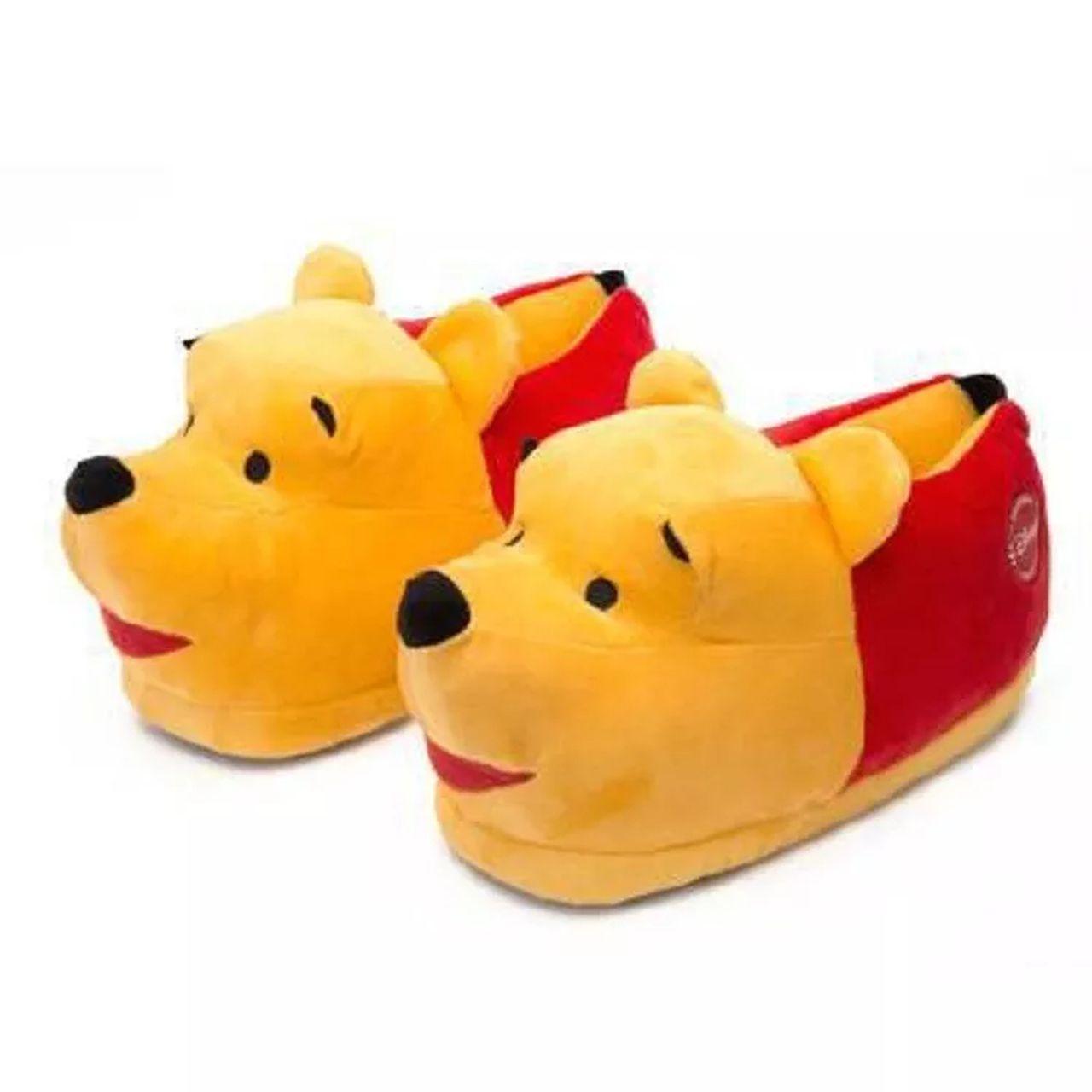 1cbb2c86dc1f52 Pantufa Ursinho Pooh 3D - Ricsen Disney - Anti Derrapante