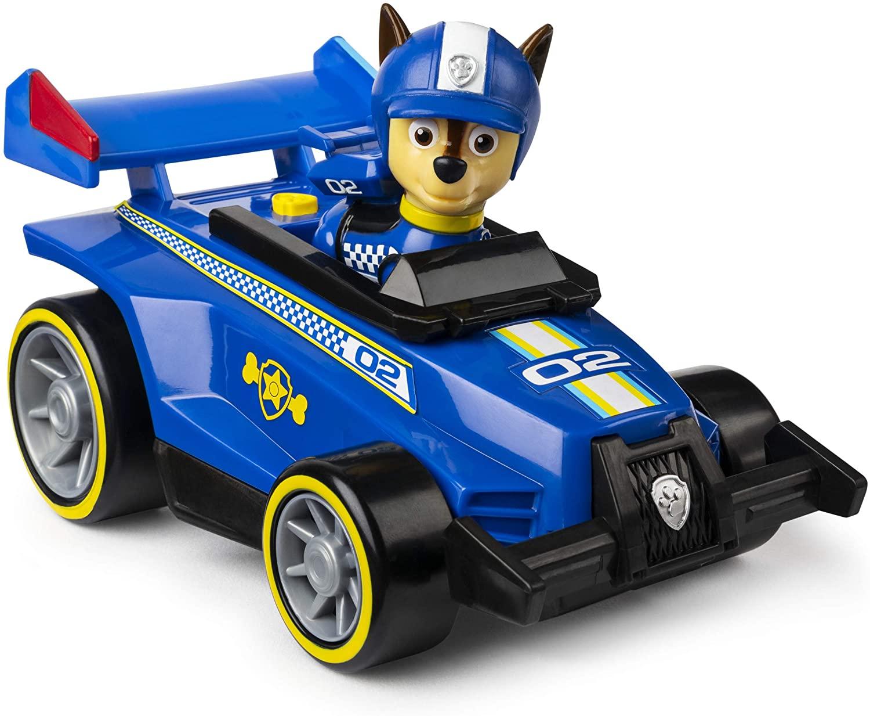 Patrulha Canina - Chase - Boneco + Veículo - Race Go Deluxe