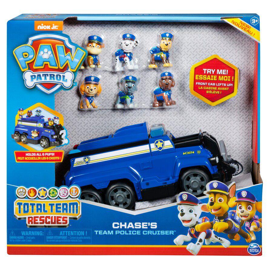 Patrulha Canina - Chase Veículo policial de resgate com equipe de 6 filhotes  - Sunny Original