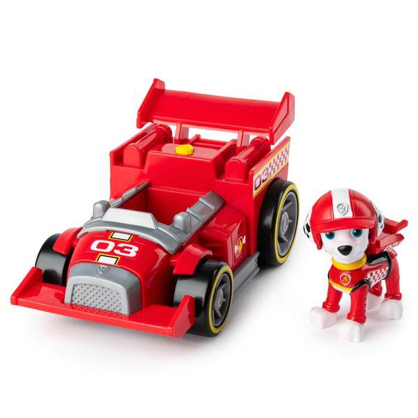 Patrulha Canina - Marshall - Boneco + Veículo Race Go Deluxe