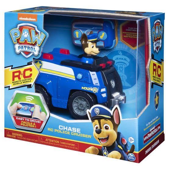 Patrulha Canina RC - Figura Chase carro de polícia com controle remoto - Sunny