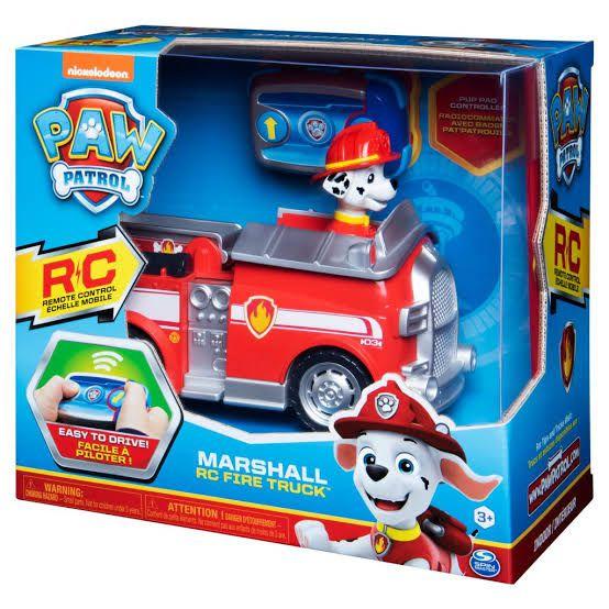 Patrulha Canina RC - Figura Marshall caminhão de bombeiros com controle remoto - Sunny