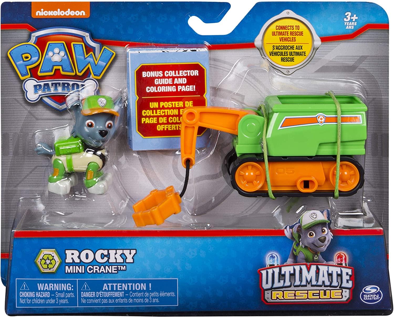 Patrulha Canina Rocky - Boneco + Veículo - Ultimate Resgate