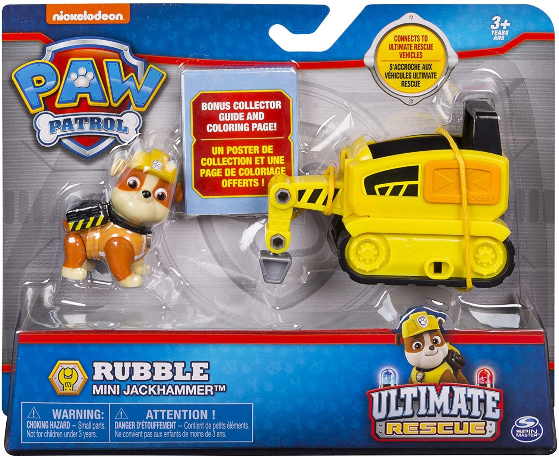 Patrulha Canina Rubble - Boneco + Veículo - Ultimate Resgate