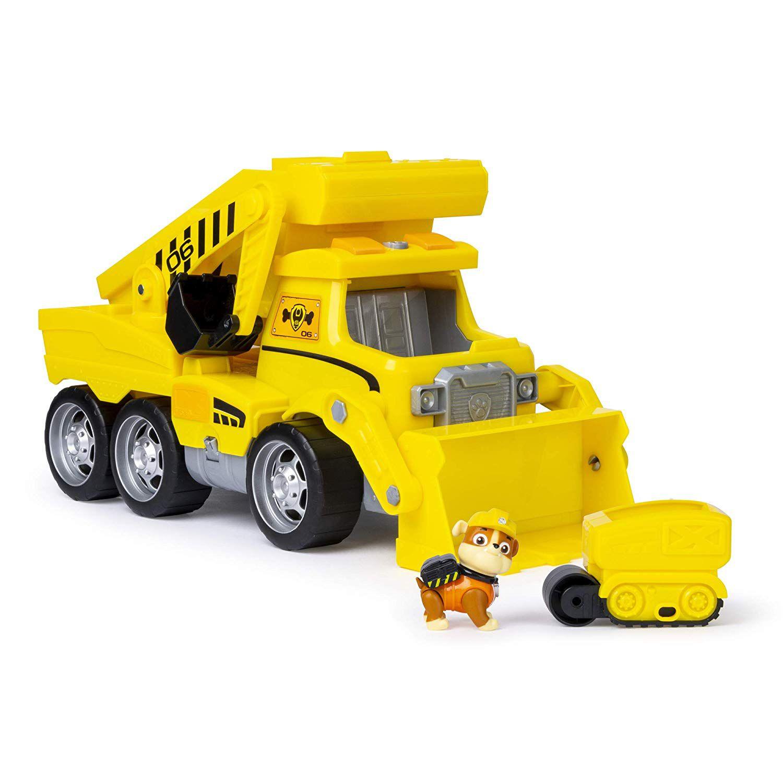 Patrulha Canina - Rubble - Ultimate Rescue Construction Truck com luzes, som e Mini veículo - Sunny Original