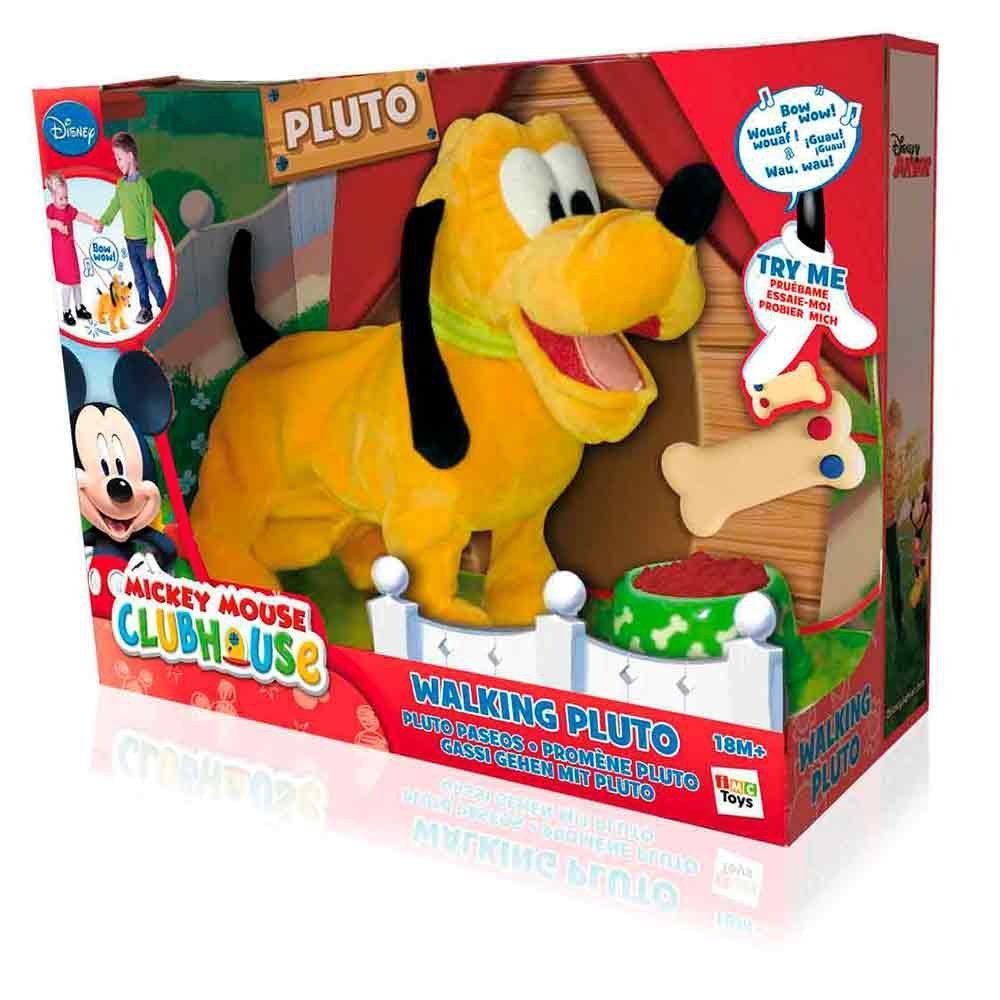 Pelúcia Disney Walking Pluto - c/ Mecanismo e Som - Multikids