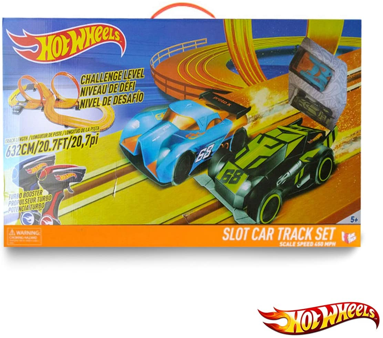 Pista Autorama Hot Wheels Set Deluxe 632cm c/ 2 Carrinhos