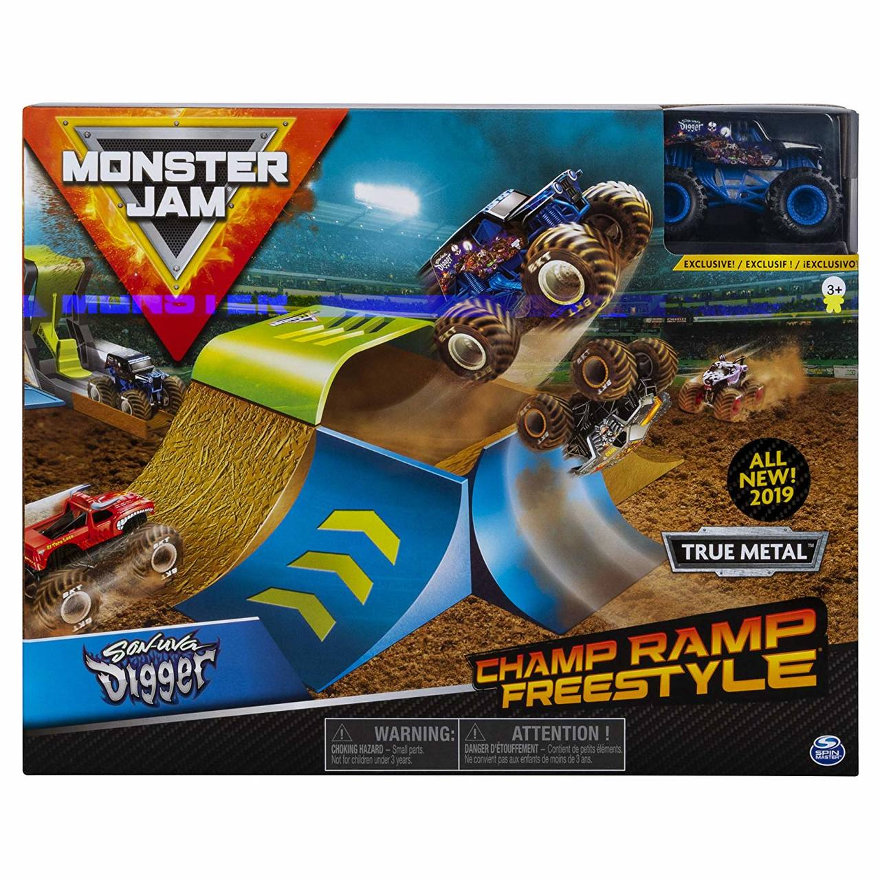 Pista Monster Jam - Playset Champ Ramp Freestyle - Original