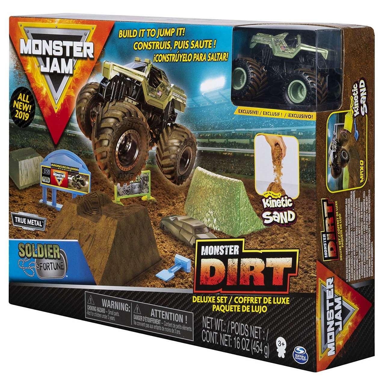 Pista Monster Jam - Playset Deluxe c/ 453 g de Areia Mágica1