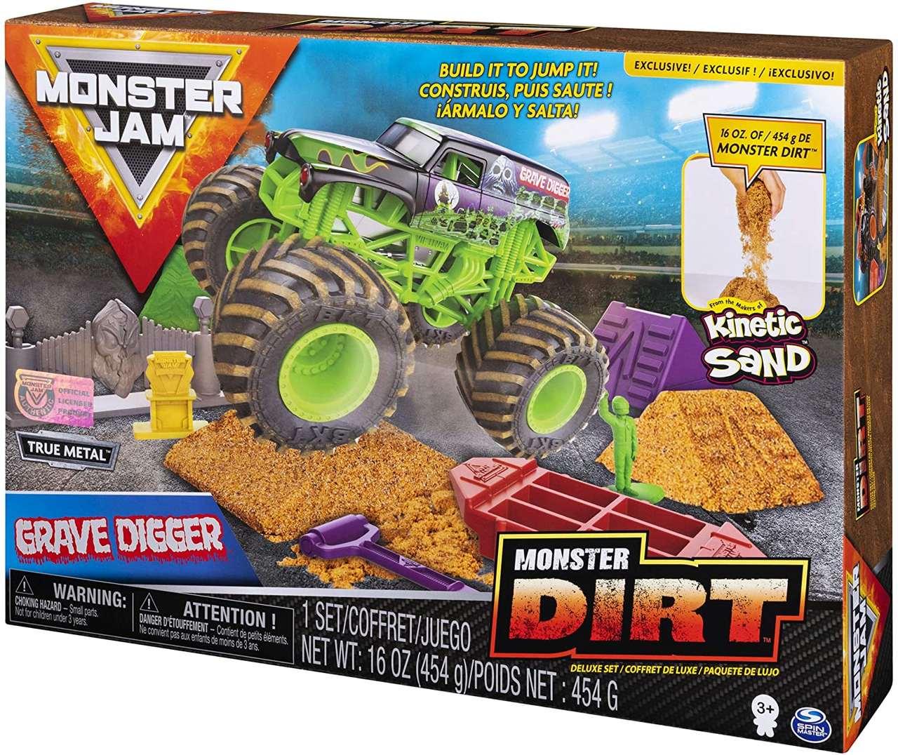 Pista Monster Jam - Playset Deluxe c/ 453 g de Areia Mágica3