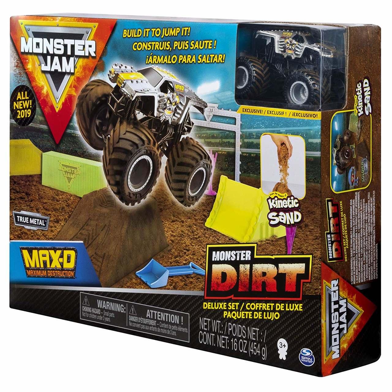 Pista Monster Jam - Playset Deluxe com 453 g de Areia Mágica
