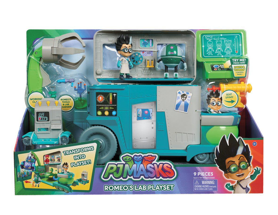 PJ Masks - Laboratório Romeo Playset - Luz e Som - DTC