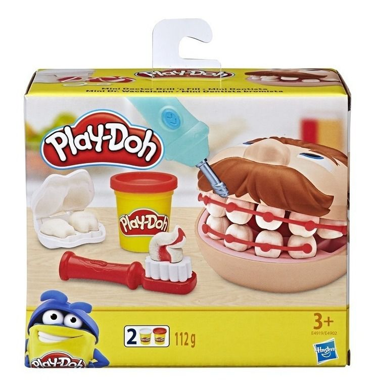 Play-Doh Massinha - Mini kit Dentista - Hasbro Original E4902