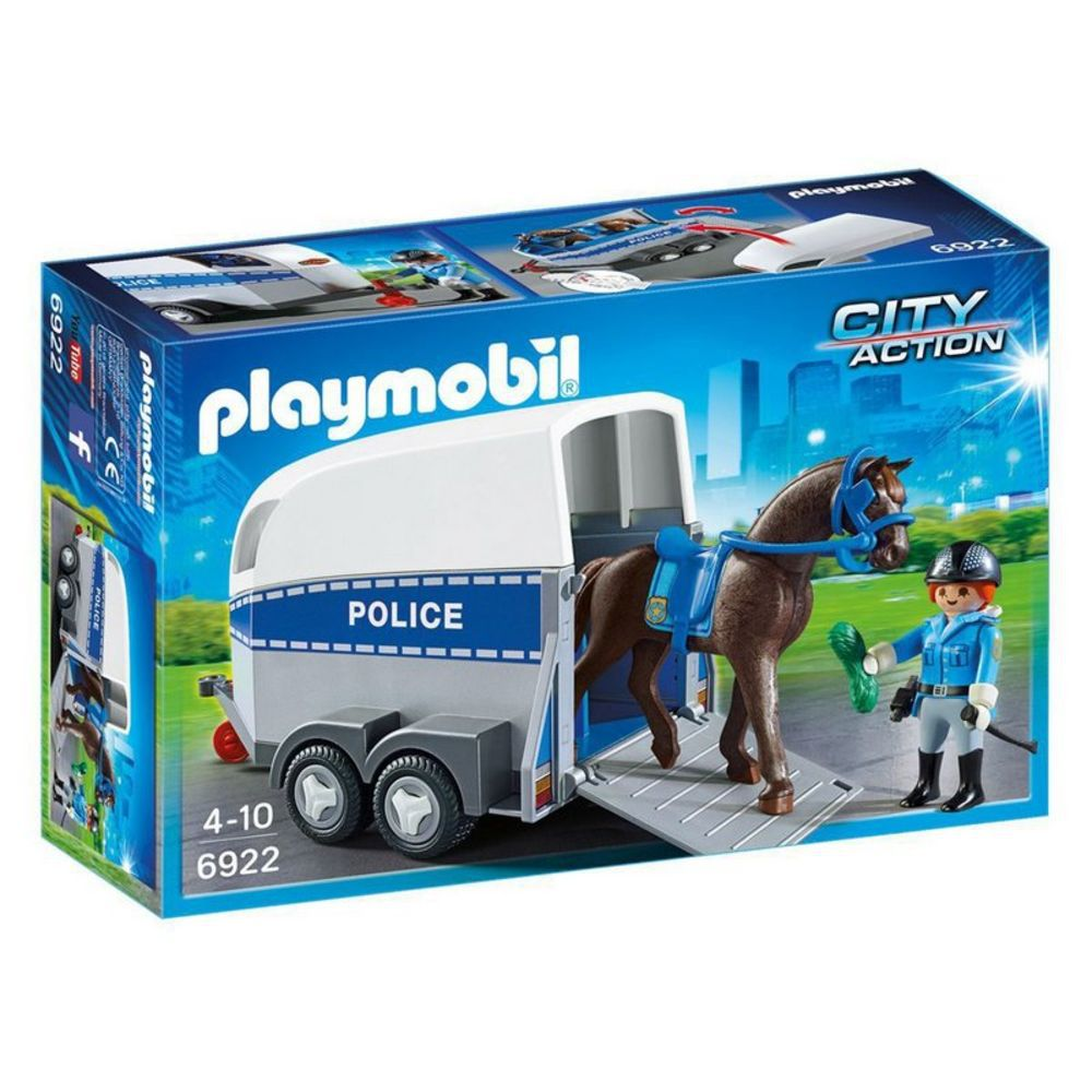 Playmobil 6922 - Policia Montada Com Trailer - City Action