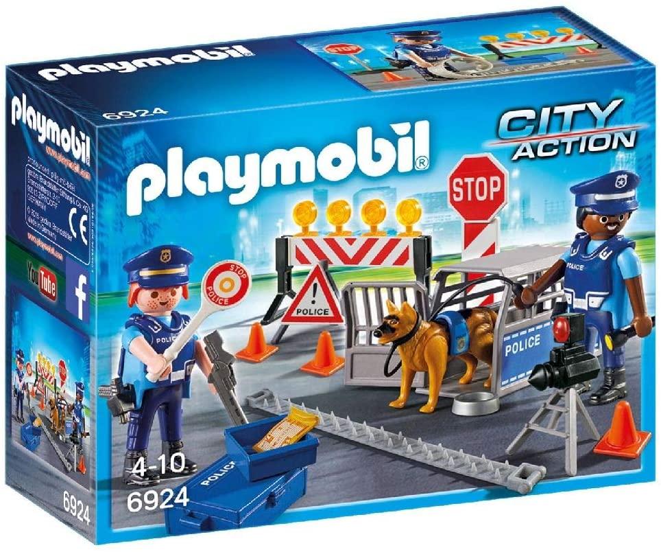 Playmobil 6924 City Action  - Unidade Policial de Bloqueio c/ cães