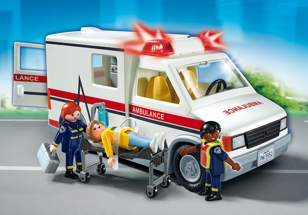 Playmobil - Ambulância C/ 3 Bonecos - 20 Peças Original