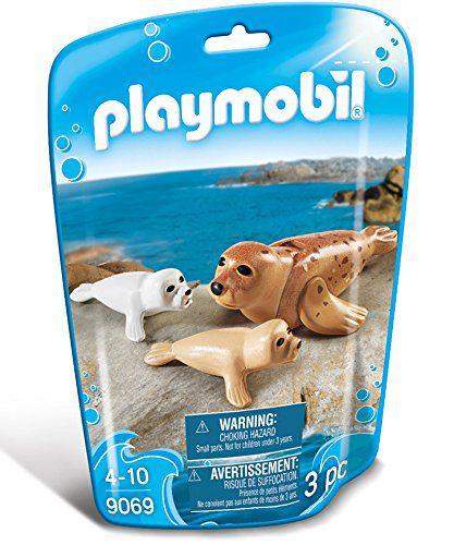 Playmobil Animais Marinhos - Família Foca - 3 PC - 9069