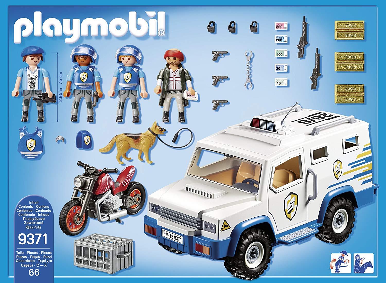 Playmobil - Carro Forte da Policia Blindado - 66 Peças