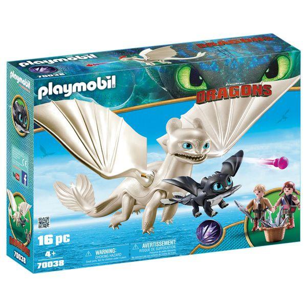 Playmobil - Como Treinar Seu Dragão 3 - Furia da Luz com Crianças - 16 peças