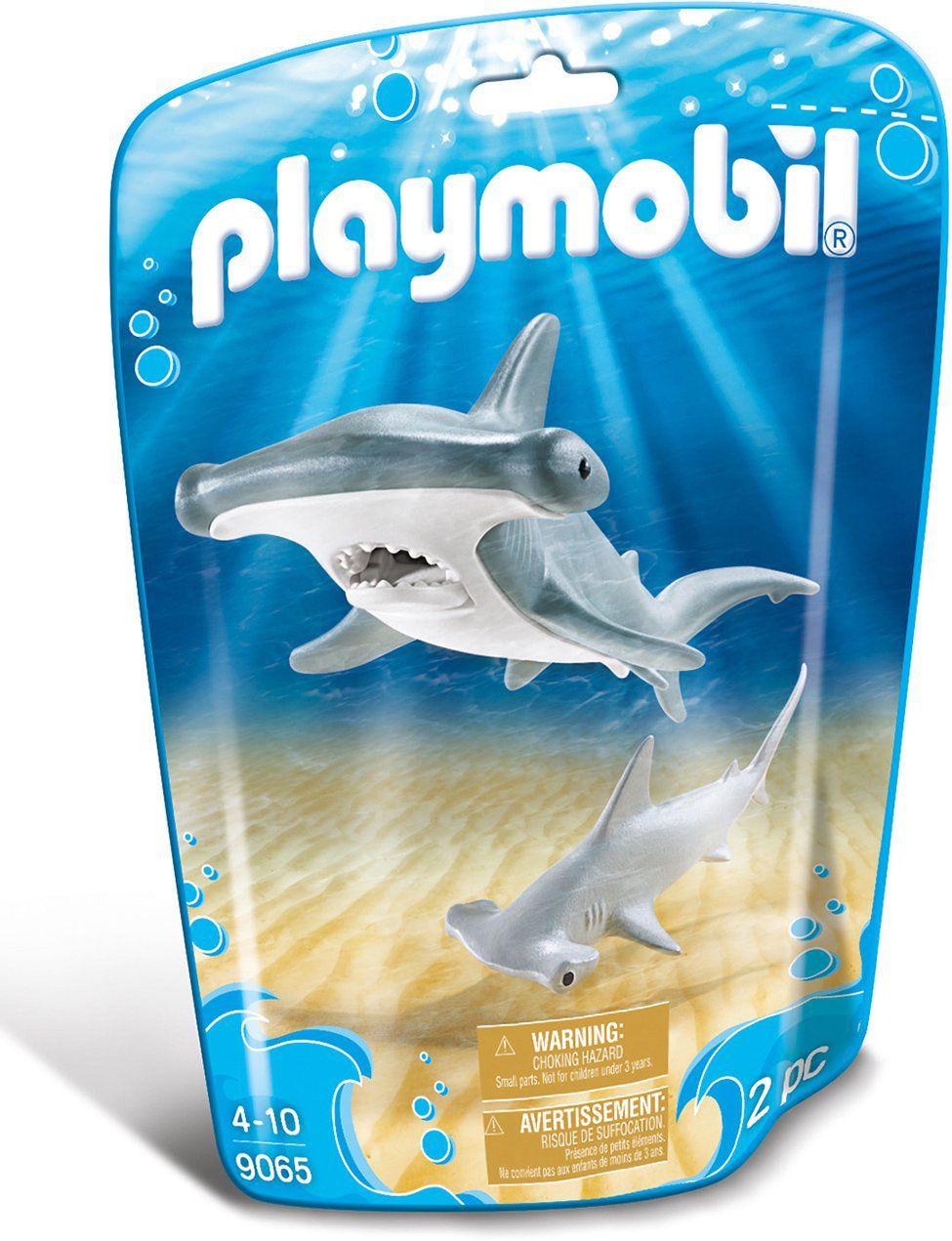 Playmobil Animais Marinhos - Tubarão Martelo e Filhote  9065