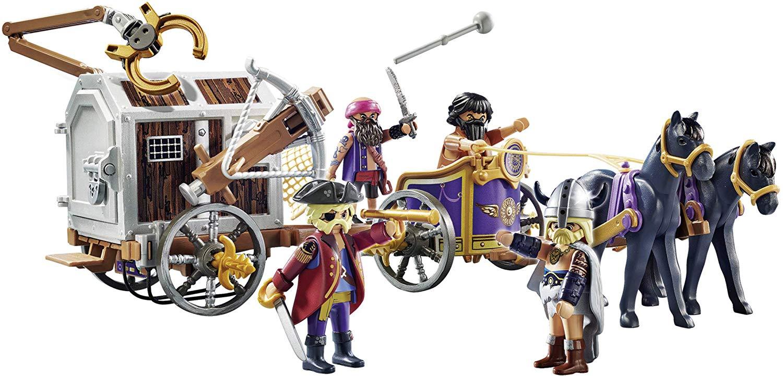 Playmobil O Filme - Charlie com Charrete e Prisioneiros 65pc