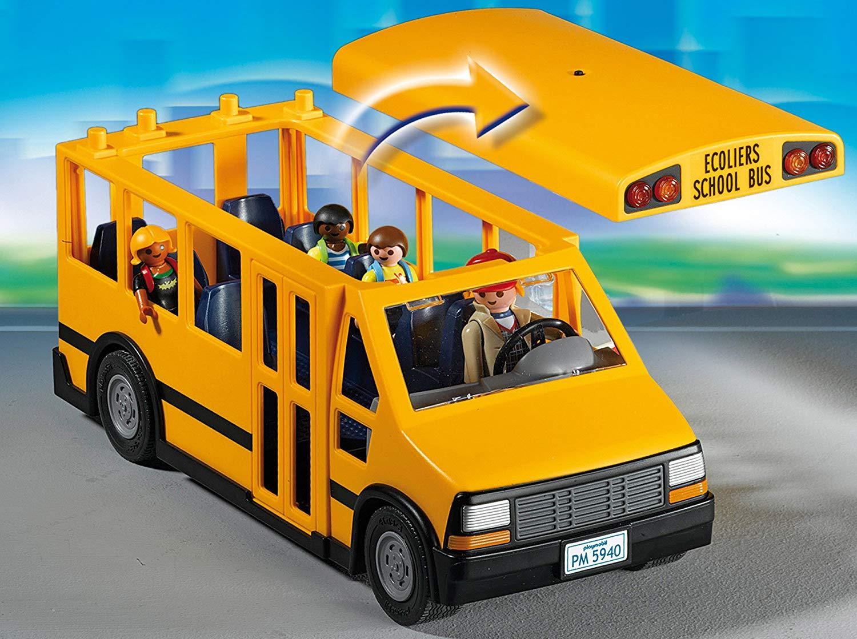 Playmobil - Ônibus Escolar C/ 4 Bonecos - 12 Peças Original