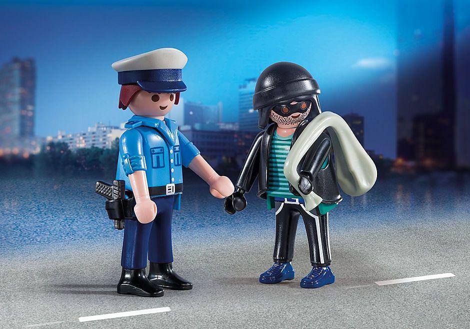 Playmobil - Policial e Bandido - 2 Figuras - 9218 Original