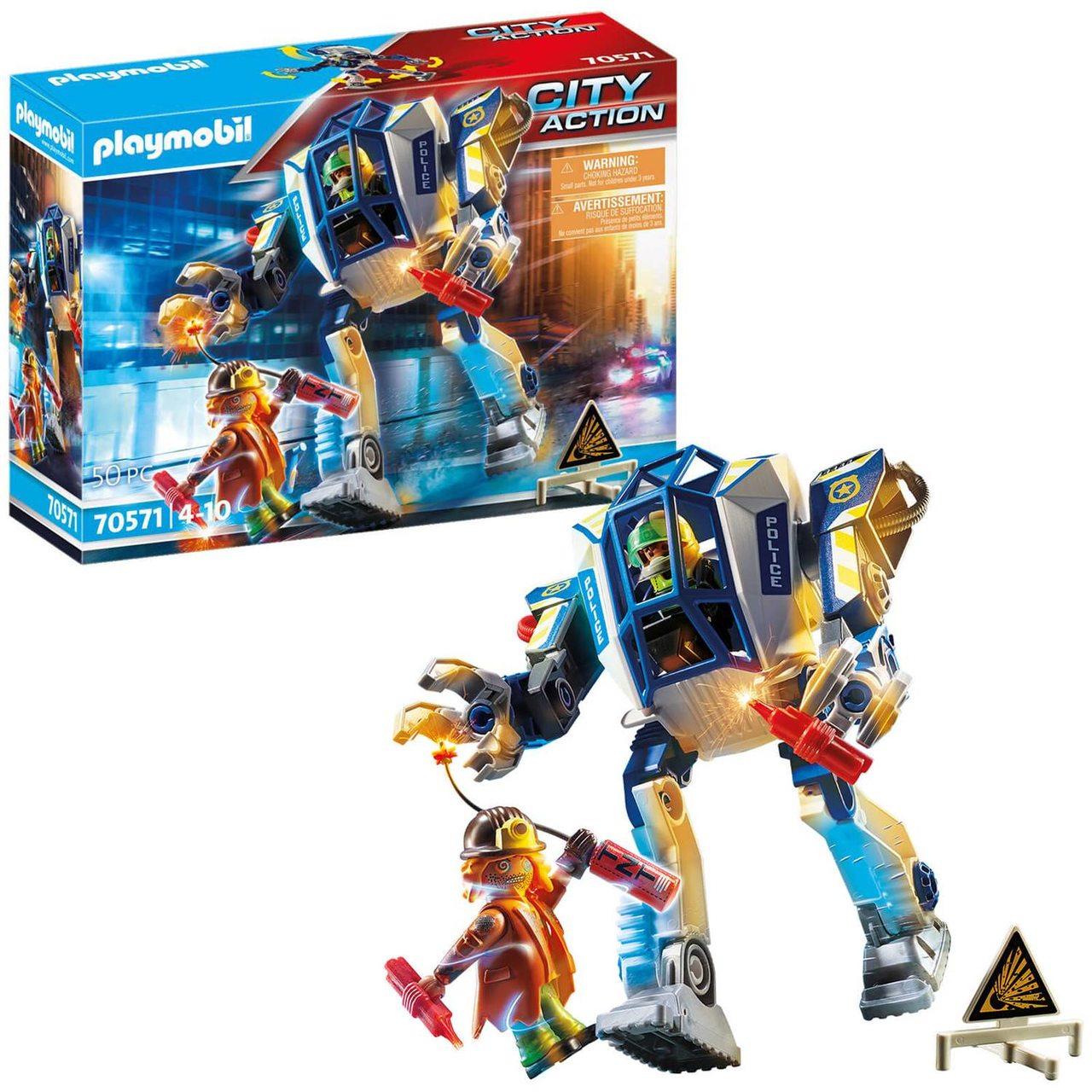 Playmobil Robô Operações Especiais City Action 50 pçs 70571