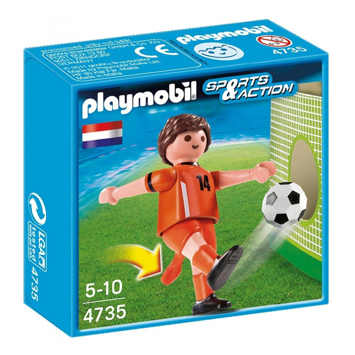 Playmobil Sports e Action - Jogador de Futebol da Holanda - Sunny Original 4735