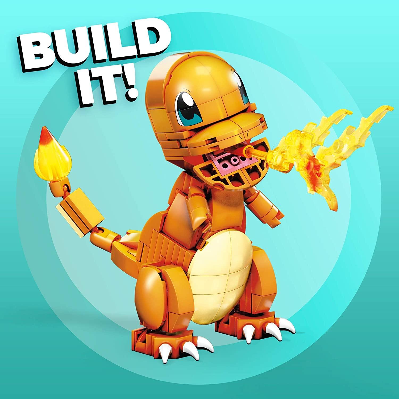 Pokemon Charmander - Mega Construx - Blocos Montar - Mattel