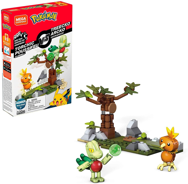 Pokémon de Montar Mega Construx - Torchic Vs Treeko - Mattel