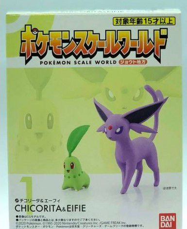 Pokemon Scale World Johto - Chikorita & Espeon - Original Bandai