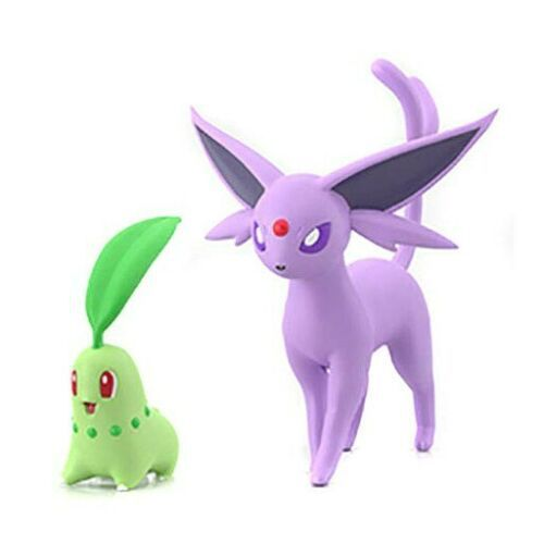 Pokemon Scale World Johto - Chikorita & Espeon - Original Bandai